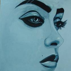 beyond beauty, 24 x 24 inch, j.k  chhatwal,figurative paintings,canvas,acrylic color,24x24inch,GAL0537812711