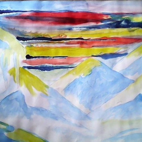 hill, 16 x 11 inch, sayan das,paintings,abstract paintings,figurative paintings,portrait paintings,nature paintings,paintings for living room,paintings for hotel,paintings for living room,paintings for hotel,thick paper,poster color,16x11inch,GAL0511612720Nature,environment,Beauty,scenery,greenery