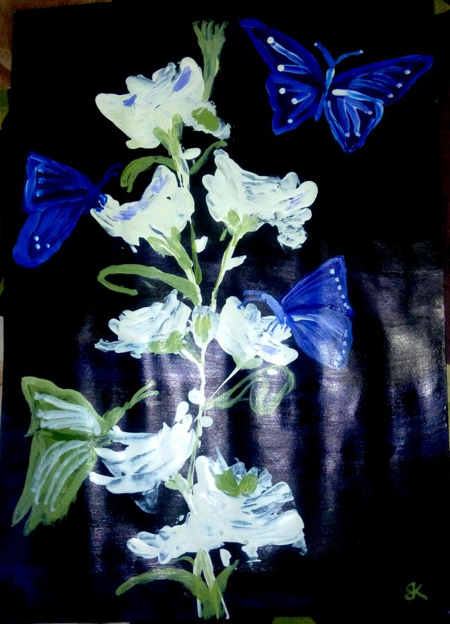 butterflies, 10 x 12 inch, bharathi k sethu nagarajan,paintings,nature paintings,paintings for living room,paintings for living room,paper,acrylic color,10x12inch,GAL0538512726Nature,environment,Beauty,scenery,greenery