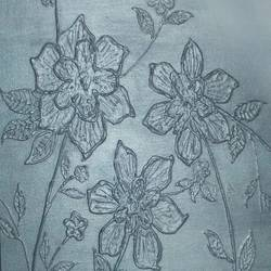 silvers of silver, 24 x 24 inch, j.k  chhatwal,flower paintings,canvas,acrylic color,24x24inch,GAL0537812757