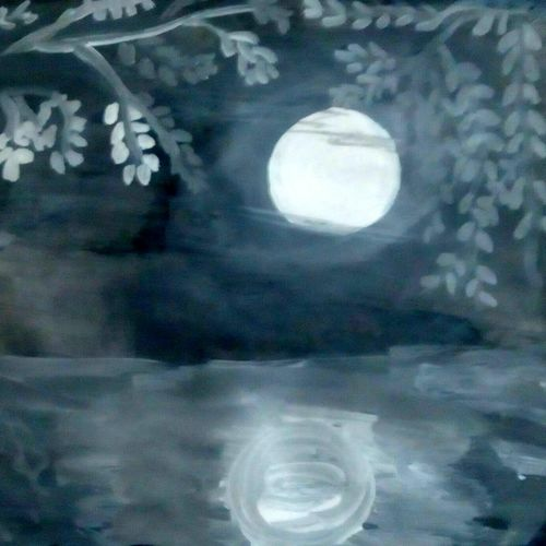 shadow of moon, 10 x 12 inch, bharathi k sethu nagarajan,paintings,nature paintings,paintings for living room,paintings for living room,paper,acrylic color,10x12inch,GAL0538512764Nature,environment,Beauty,scenery,greenery