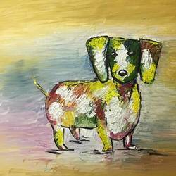 dog animal of 2018, 30 x 22 inch, shelja garg,paintings,dog painting,paintings for living room,paintings for hotel,canvas,oil,30x22inch,GAL0541712782