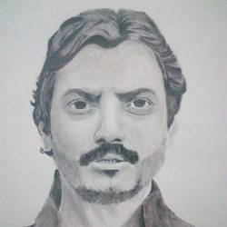 nawazuddin siddiqui portrait, 8 x 12 inch, ali kabeer,drawings,paintings for dining room,paintings for living room,paintings for bedroom,paintings for kids room,paintings for hotel,portrait drawings,paintings for dining room,paintings for living room,paintings for bedroom,paintings for kids room,paintings for hotel,drawing paper,graphite pencil,8x12inch,GAL0538212802