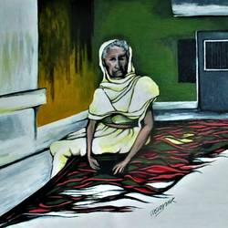 naani, 38 x 32 inch, abhishek chauhan,paintings,figurative paintings,modern art paintings,canvas,acrylic color,38x32inch,GAL0532912804