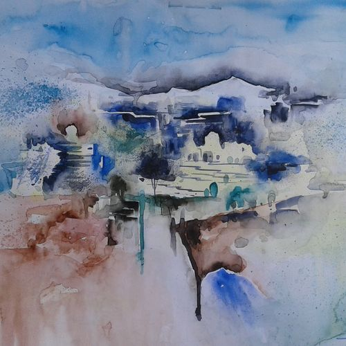 creation of nature, 22 x 14 inch, hitesh kumar,paintings,landscape paintings,paintings for dining room,paintings for living room,paintings for bedroom,paintings for office,paintings for hotel,ivory sheet,watercolor,22x14inch,GAL0411512812