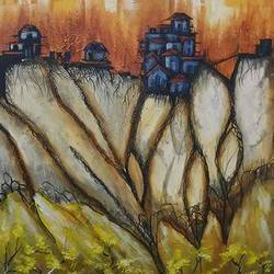 landscap, 18 x 24 inch, sapna rathore ,water fountain paintings,canvas,acrylic color,18x24inch,GAL0544812840
