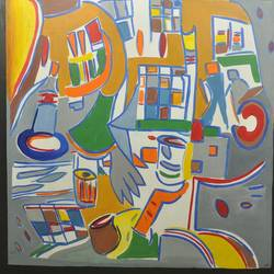 abstract colourful, 48 x 48 inch, sapna rathore ,abstract paintings,canvas,acrylic color,48x48inch,GAL0544812842