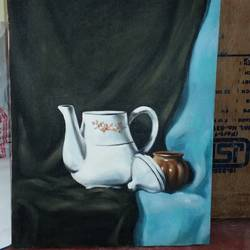still life , 19 x 15 inch, pronati halder,paintings,still life paintings,canvas,acrylic color,19x15inch,GAL0375712850