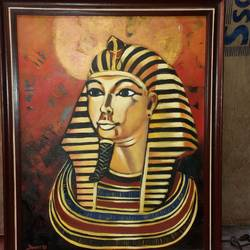 pharaoh, 22 x 18 inch, pronati halder,paintings,abstract paintings,modern art paintings,canvas,acrylic color,22x18inch,GAL0375712853