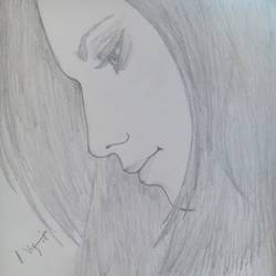 lonely girl, 13 x 18 inch, vigneshwari ravindran,drawings,paintings for living room,paintings for bedroom,paintings for office,paintings for hotel,portrait drawings,paintings for living room,paintings for bedroom,paintings for office,paintings for hotel,paper,graphite pencil,13x18inch,GAL0545512855
