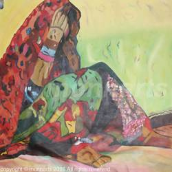 women in different shades , 24 x 30 inch, monika  narula,abstract paintings,paintings for office,canvas,oil,24x30inch,GAL05261286