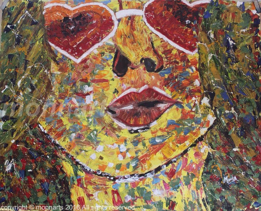beauty at her best , 30 x 37 inch, monika  narula,modern art paintings,paintings for living room,canvas,oil paint,30x37inch,GAL05261287