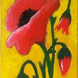 red flowers, 4 x 18 inch, aishwarya  jv,paintings,flower paintings,nature paintings,paintings for living room,paintings for office,canvas board,acrylic color,4x18inch,GAL0546912874Nature,environment,Beauty,scenery,greenery