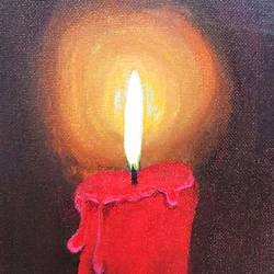 candle, 6 x 8 inch, aishwarya  jv,paintings,still life paintings,realism paintings,paintings for living room,canvas board,acrylic color,6x8inch,GAL0546912875