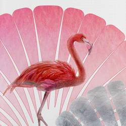 Flamingo pink bird  art print by Gallerist