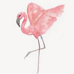 Flying flamingo art print by Gallerist