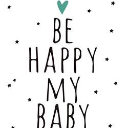Be happy  art print by Gallerist