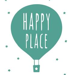 Happy place art print by Gallerist