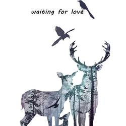 Deer in love  art print by Gallerist