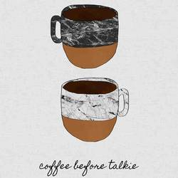 Coffee before talking  art print by Gallerist