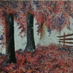 the nature of winter, 18 x 12 inch, iman sarkar,paintings for dining room,nature paintings,canvas,acrylic color,18x12inch,GAL05281290Nature,environment,Beauty,scenery,greenery
