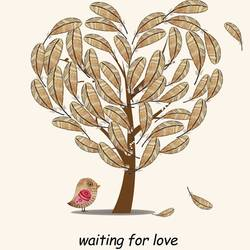 Love bird with love tree art print by Gallerist