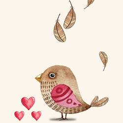 Lovely brown bird  art print by Gallerist
