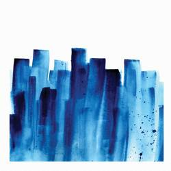 Building in blue  art print by Gallerist