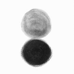 Black and white dot  art print by Gallerist