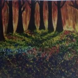 the colorful nature , 15 x 12 inch, iman sarkar,paintings for dining room,nature paintings,canvas,acrylic color,15x12inch,GAL05281292Nature,environment,Beauty,scenery,greenery