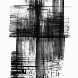 Line of a blck shade  art print by Gallerist