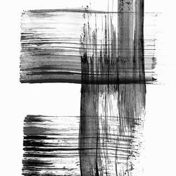 Strip of black colour  art print by Gallerist