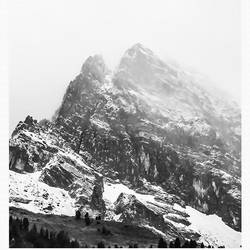 Mountain cover with snow  art print by Gallerist