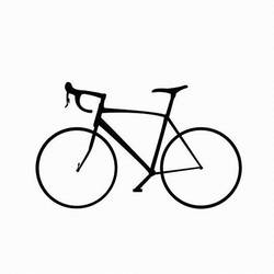 Black bicycle art print by Gallerist
