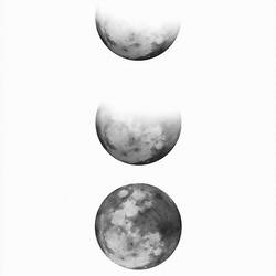 The moon art print by Gallerist