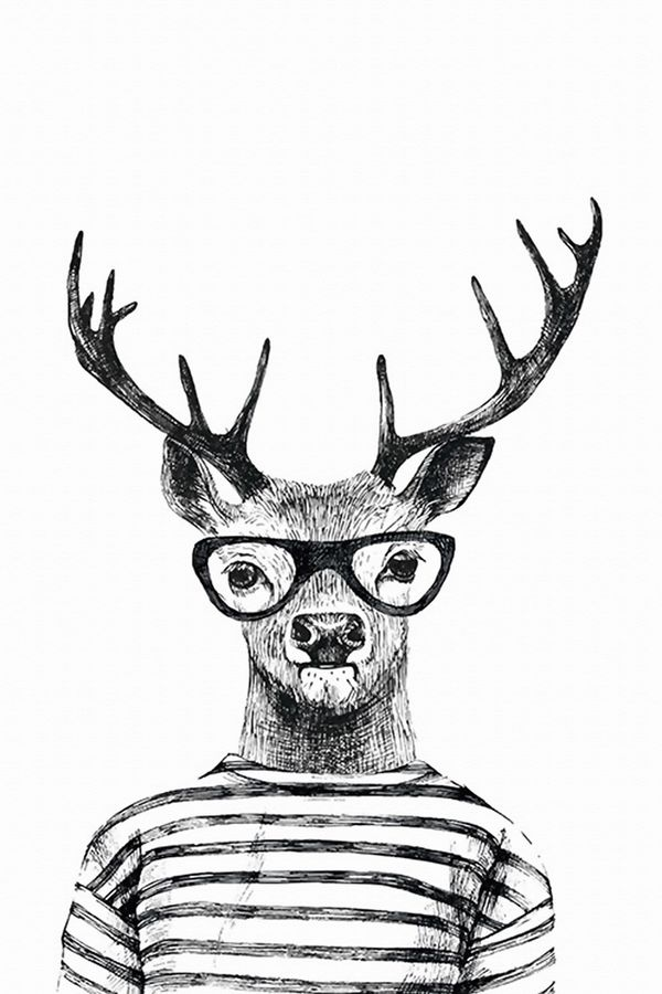 Deer with goggles
