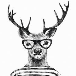 Deer with goggles  art print by Gallerist