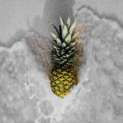 Pineappleon sea water  art print by Gallerist