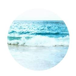 Flowing blue water  art print by Gallerist