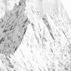 Pointed mountain cover with snow art print by Gallerist