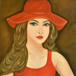 beautiful woman, 16 x 24 inch, goutami mishra,figurative paintings,paintings for living room,canvas,oil,16x24inch,GAL04651303