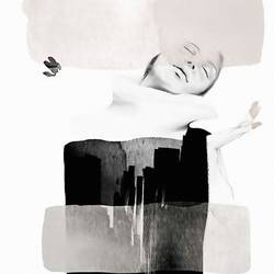 Sleeping girl art print by Gallerist