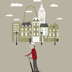 Man In london  art print by Gallerist