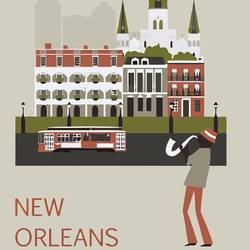 The new orleans  art print by Gallerist