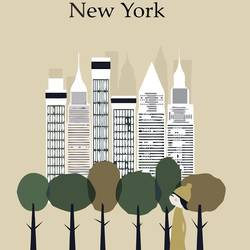 Huge building in new york art print by Gallerist