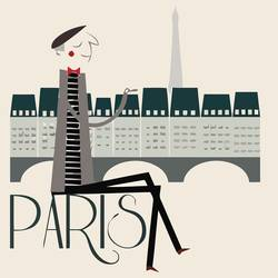 The sunny paris art print by Gallerist