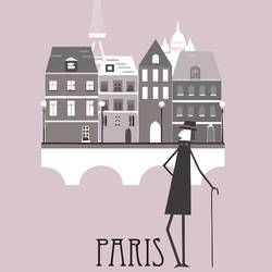 House in paris  art print by Gallerist