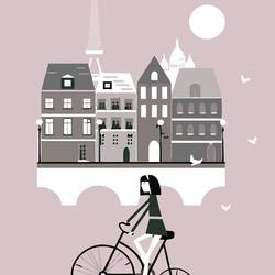 Girl in paris  art print by Gallerist