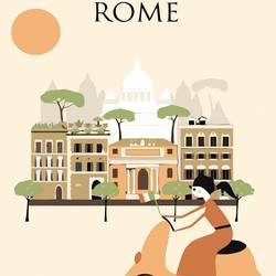 House in rome art print by Gallerist