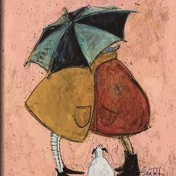Love under umbrella art print by Gallerist